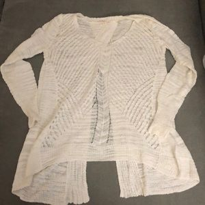 Rebecca Taylor Open Back Slub Knit Sweater